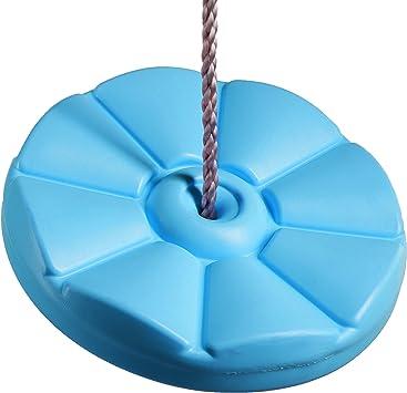 Seggiolino A Disco per Altalena in Plastica con Corde Morbide Regolabilie E Resistenti alla Interperie Fiore Seduta per Altalena in Plastica Resistente alle Intemperie