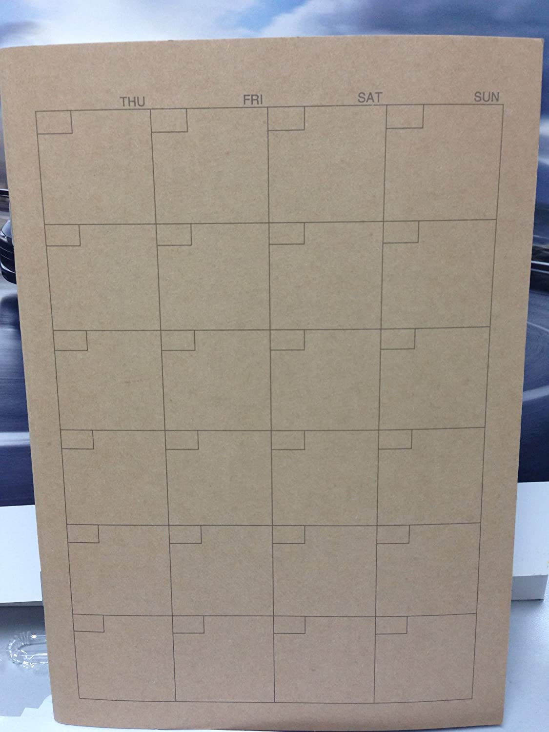 For Monthly 32 sheets JAPAN MUJI A5 Schedule Note