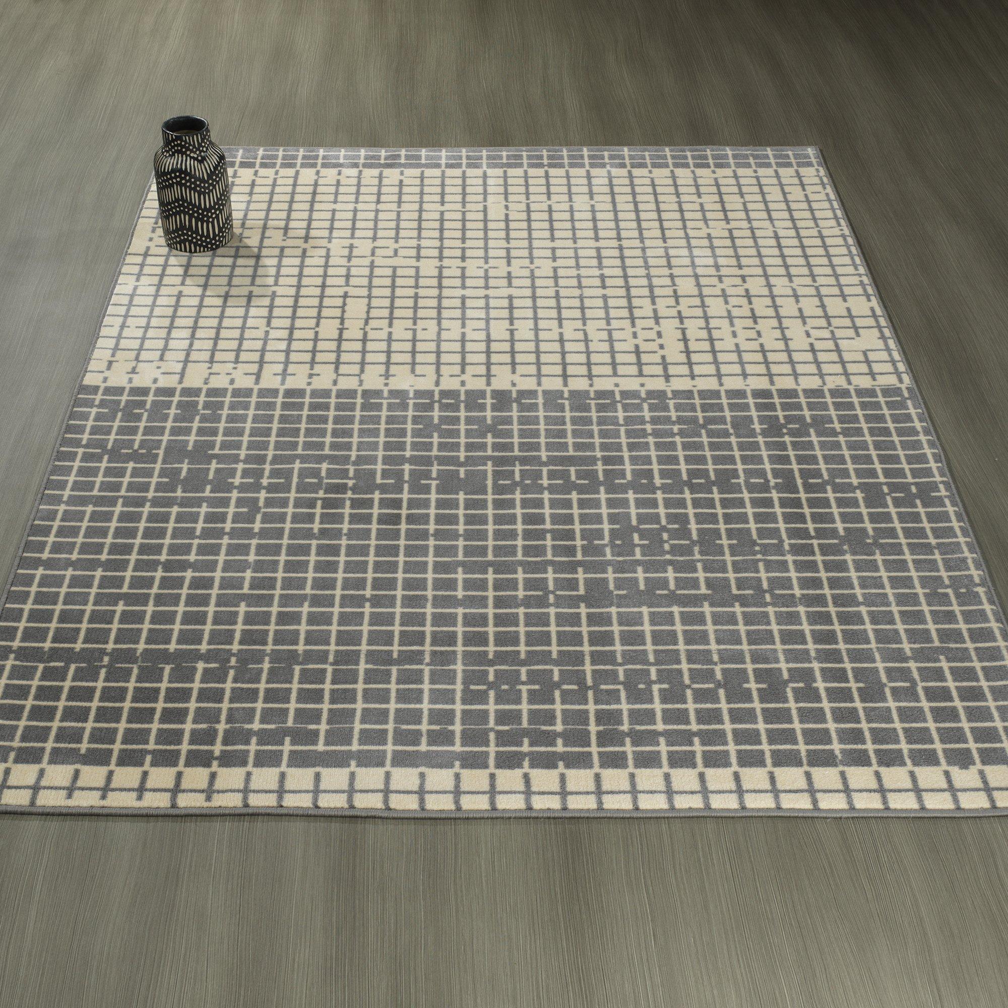 Ottomanson Studio Collection Layered Design Area Rug, 3'3'' X 5'0'' , Grey