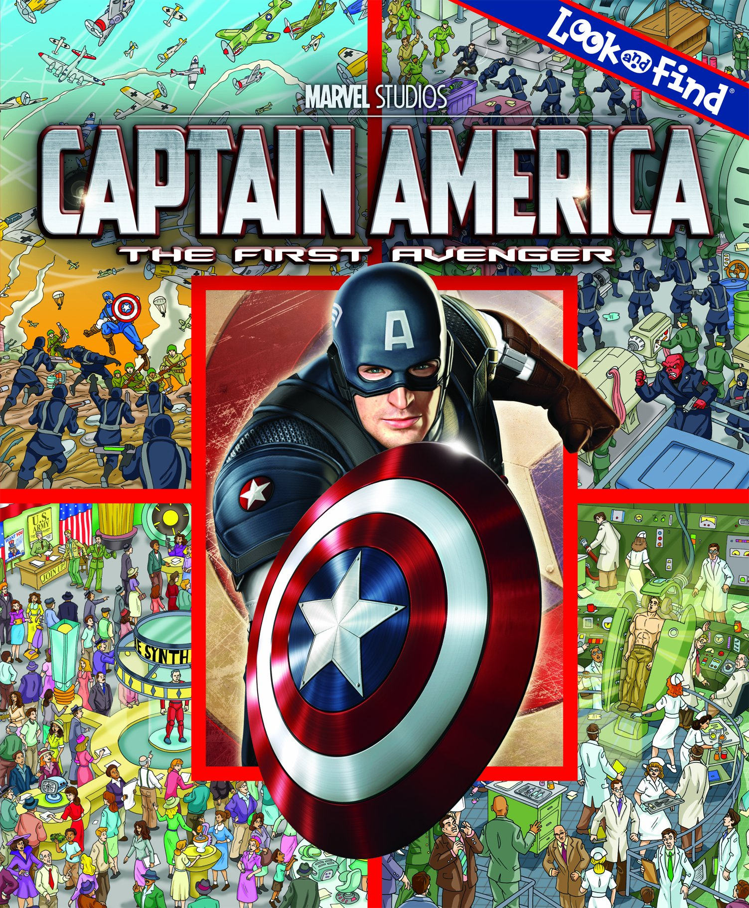 Look and Find Captain America The First Avenger Look & Find
