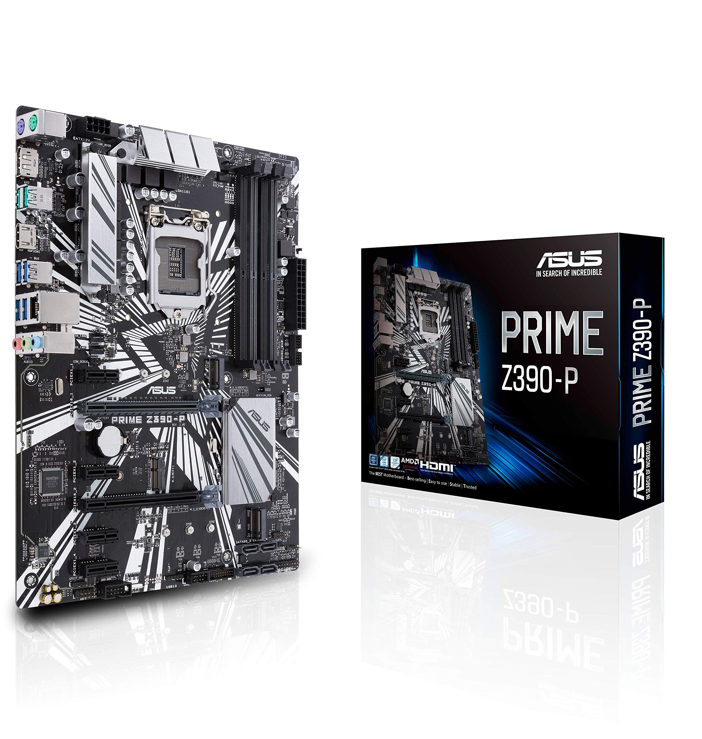 Asus Prime Z390-P LGA1151 (Intel 8th and 9th Gen) DDR4 DP...