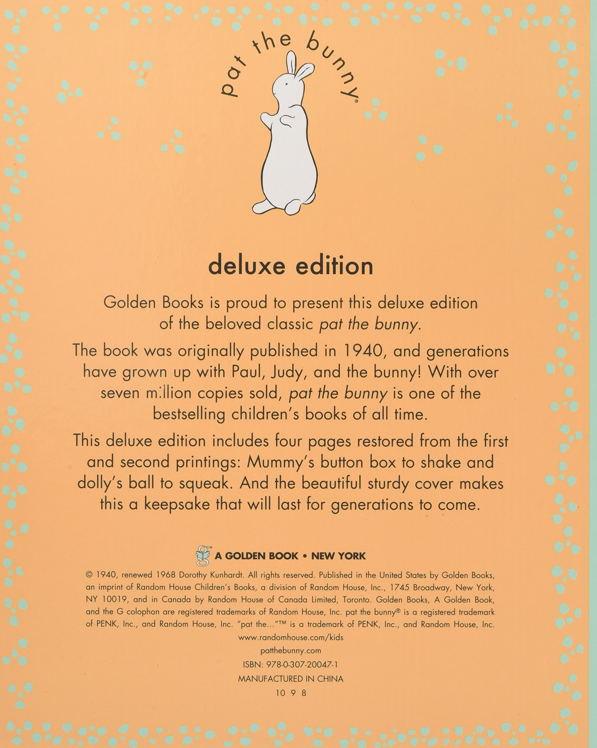 Pat the Bunny Deluxe Edition by Golden Books (Image #3)