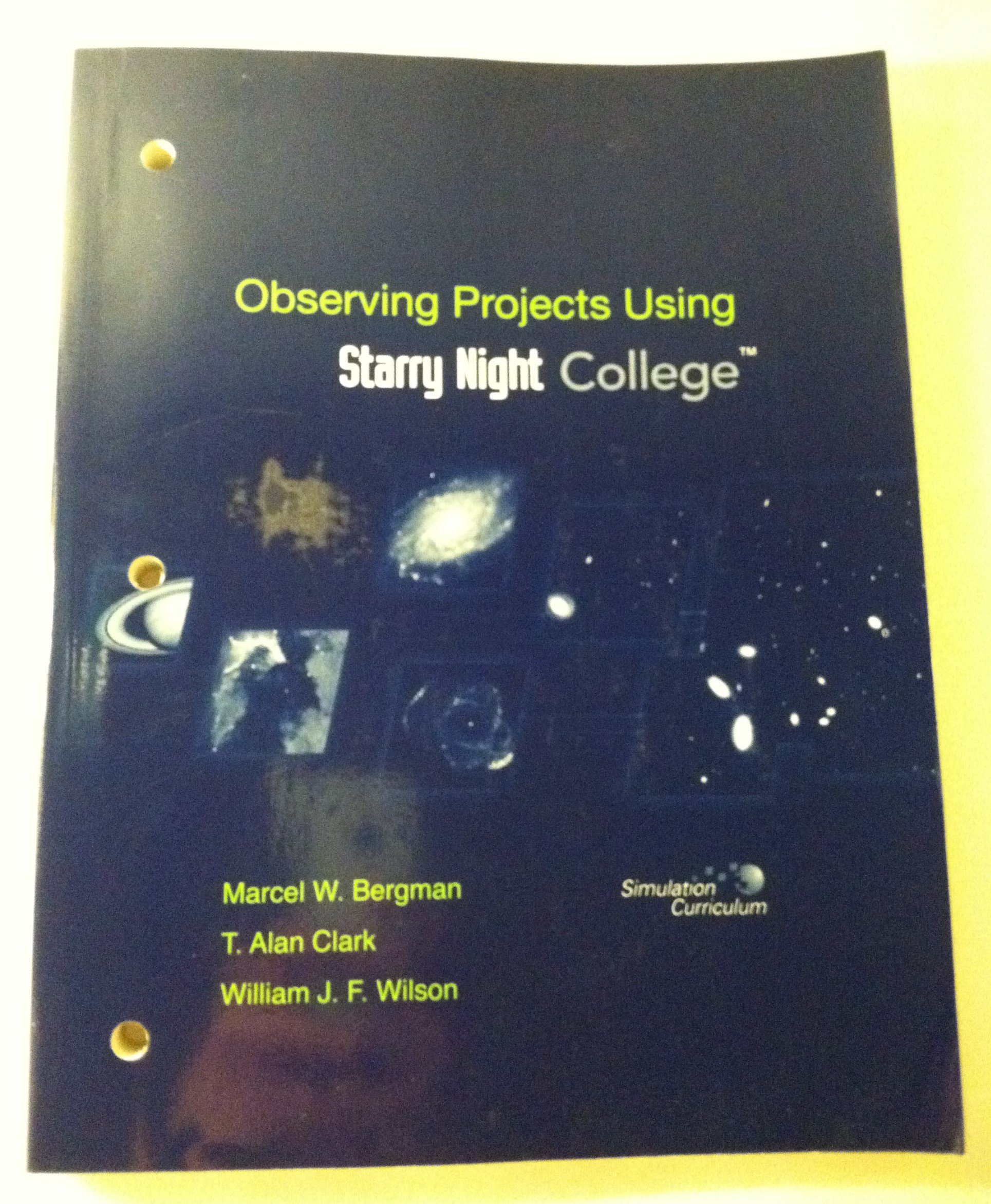 observing projects workbook for starry night college null clark