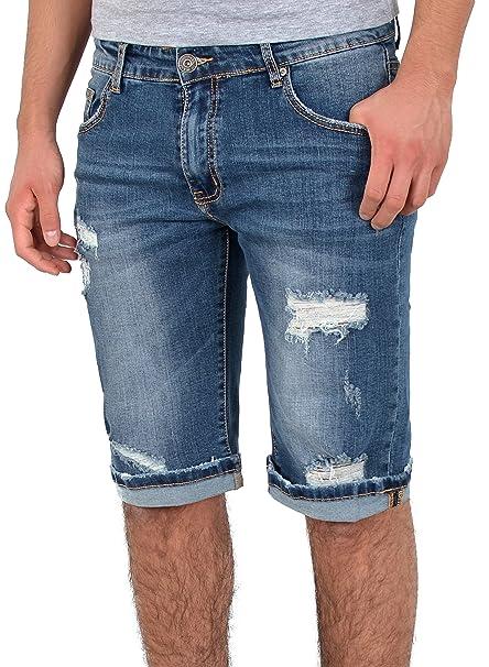 349f1713315d by-tex Herren Jeans Shorts Herren kurze Hosen mit Risse Herren kurze Jeans  Hose Bermuda Shorts Sommer Hose Destroyed Look A370  Amazon.de  Bekleidung