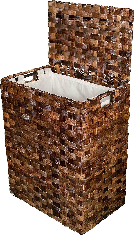 Abaca Flate Weave Laundry Hamper