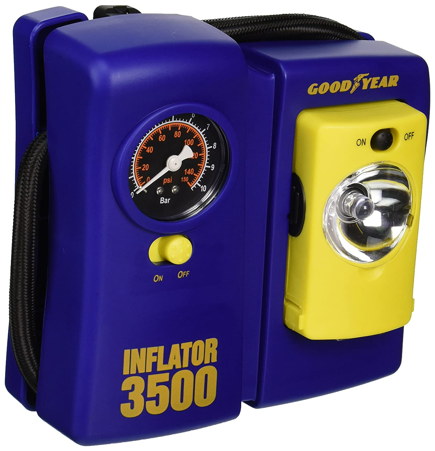 Amazon.com: Bon-Aire Goodyear i3500 12-Volt Tire Inflator with Removable Light: Automotive