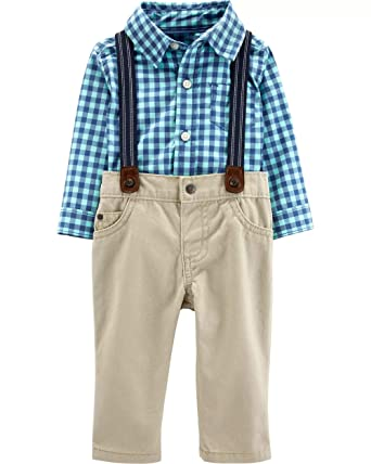 ba8948ab2 Amazon.com: Carter's Baby Boys' 3 Piece Dress Me Up Set: Clothing
