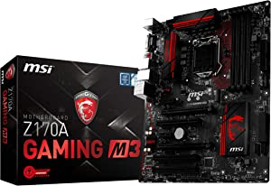 MSI Enthuastic Gaming Intel Z170A LGA 1151 DDR4 USB 3.1 ATX Motherboard (Z170A Gaming M3)