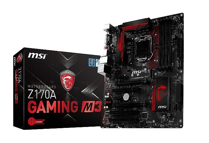 MSI Z170A Gaming M3 - Placa Base (Socket LGA 1151, 4 x DDR4 3600(OC) hasta 64 GB)