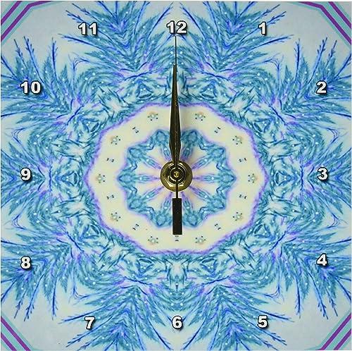 3dRose LLC Winter Crystal Dreams Desk Clock, 6 by 6-Inch