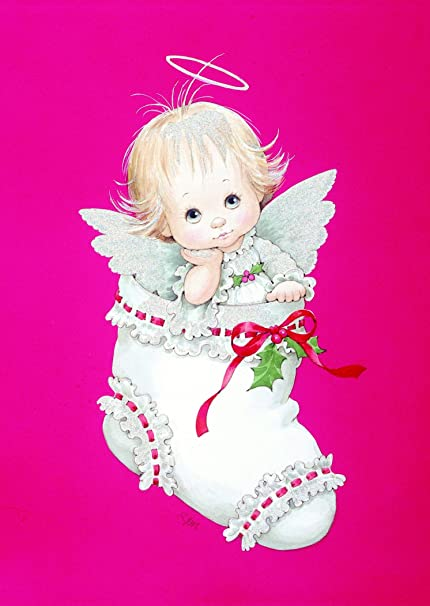 Amazon paper magic 16 count morehead angel in stocking paper magic 16 count morehead angel in stocking greeting cards 15913048 6 m4hsunfo