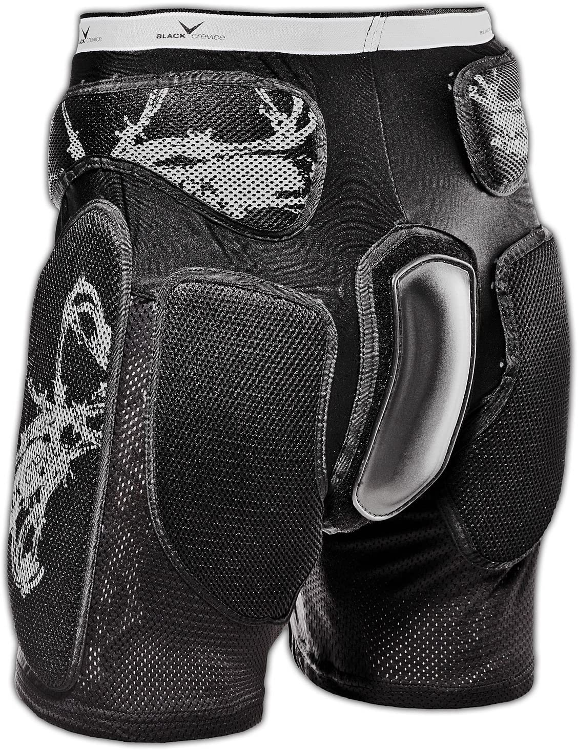 Black Crevice Crevice Pantaloncini Protettivi Unisex Adulto