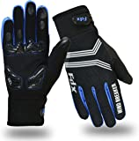 FDX Cycling Gloves Windproof Gel Padded Touchscreen Compatible Full Finger Gloves