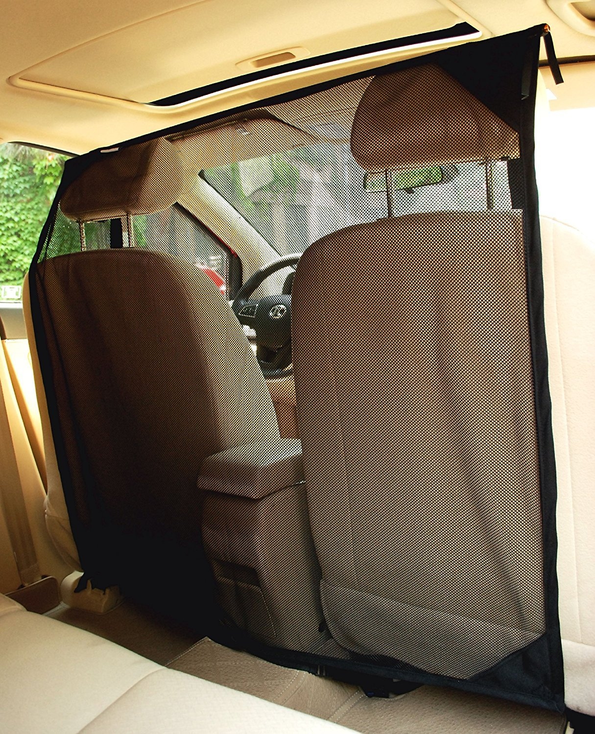 NAC&ZAC SUV Pet Barrier High See Through Net Vehicle Pet Barrier to Keep Dogs and Pet Hair Out of Front Seat