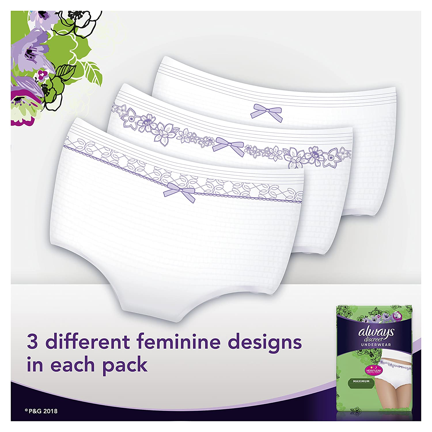 Amazon.com: Always Discreet Incontinence Underwear for Women Maximum Protection, X-Large, 52 Count: Health & Personal Care