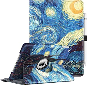 Fintie Case for iPad 9.7 2018 2017 / iPad Air 2 / iPad Air - 360 Degree Rotating Stand Protective Cover with Auto Sleep Wake for iPad 9.7 inch (6th Gen, 5th Gen) / iPad Air 2 / iPad Air, Starry Night