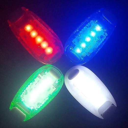Luces LED de seguridad (3 unidades). Clip en luz estroboscópica ...
