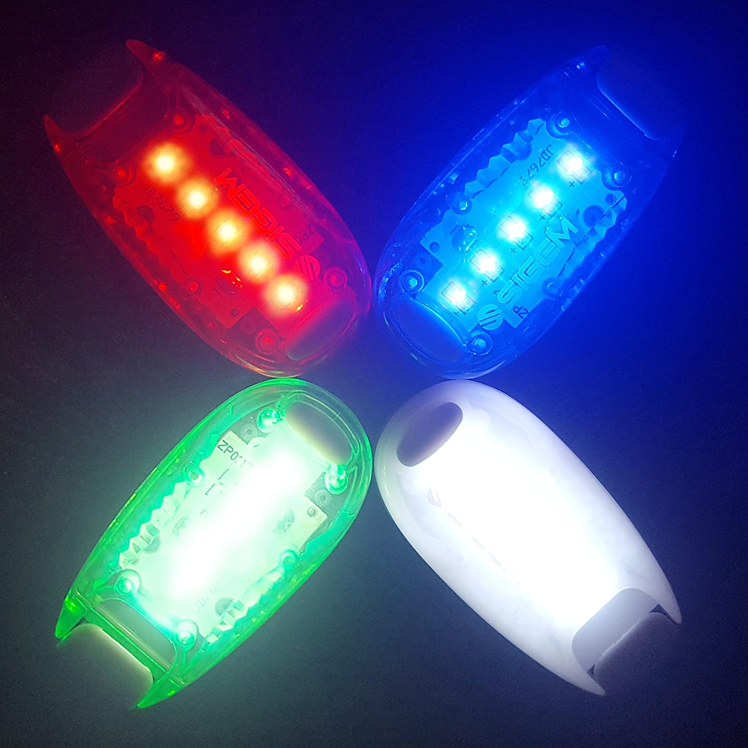Clip on Flashing Strobe Light High Visibility Running Jogging Walking Cycling Best Reflective Gear Kids Dogs Bicycle Helmet Bike Tail Light SIGEM LED Safety Lights Free Bonuses