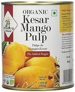 24 Mantara 24 Mantra Organic Kesar Mango pulp - 850 ml,, 850g ()
