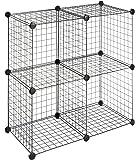 Whitmor Storage Cubes S/4, Black Wire