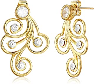 product image for a.v. max Spiral Front Back Post Earrings