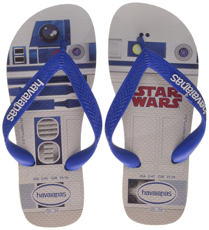 4fff5e282 Amazon.com  Havaianas Star Wars Flip Flops - White Blue UK 1213  Clothing