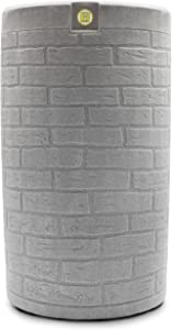 Good Ideas IMP-D50-LIG Impressions Downton Rain Saver Rain Barrel, 50 Gallon, Light Granite