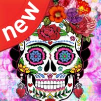 Happy Color By Number Sugar Skulls - Fun New Coloring By Numbers Game 2019
