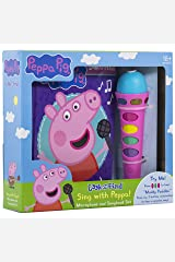 Peppa Pig - Sing with Peppa! Microphone and Look and Find Sound Activity Book Set - PI Kids (Play-A-Song) Board book