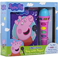 Image for Peppa Pig - Sing with Peppa! Microphone Toy and Look and Find Sound Activity Book Set - PI Kids