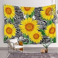 Bonsai Tree Sunflower Wall Hanging Tapestry