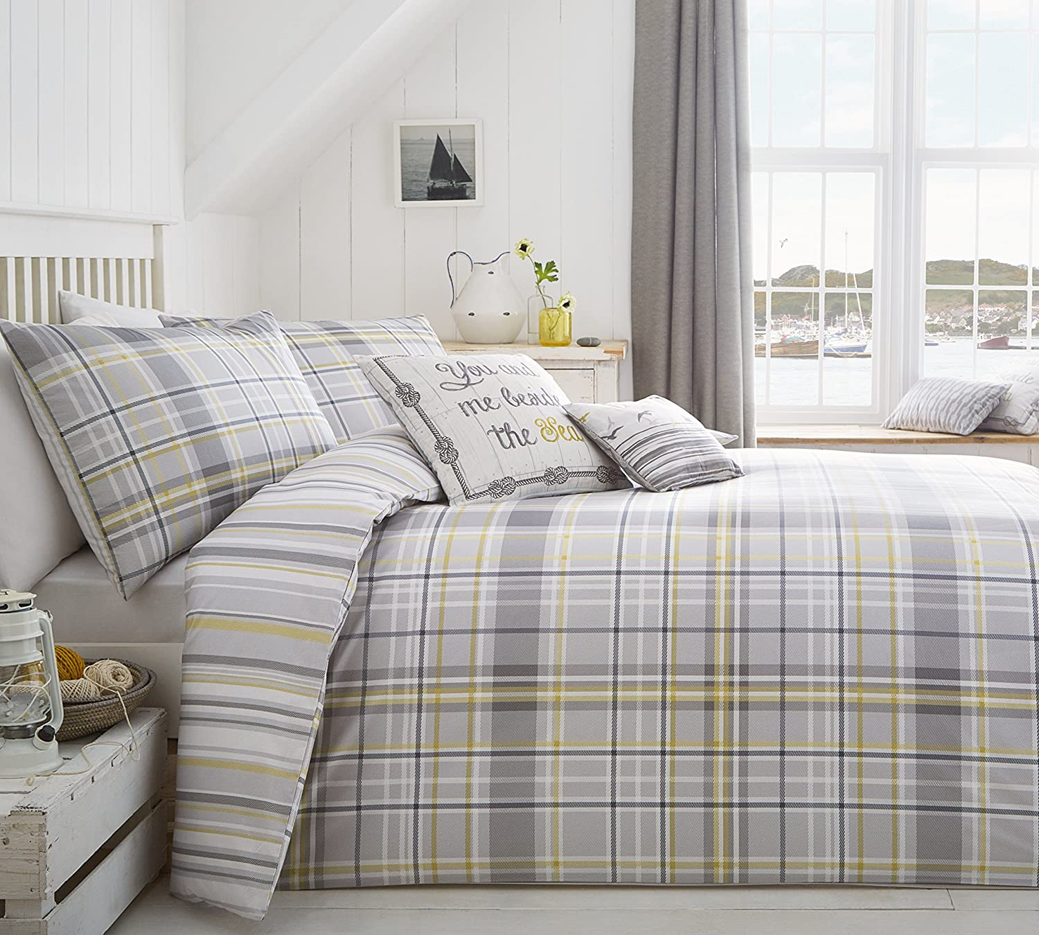 Grey And Yellow Duvet Cover Sweetgalas