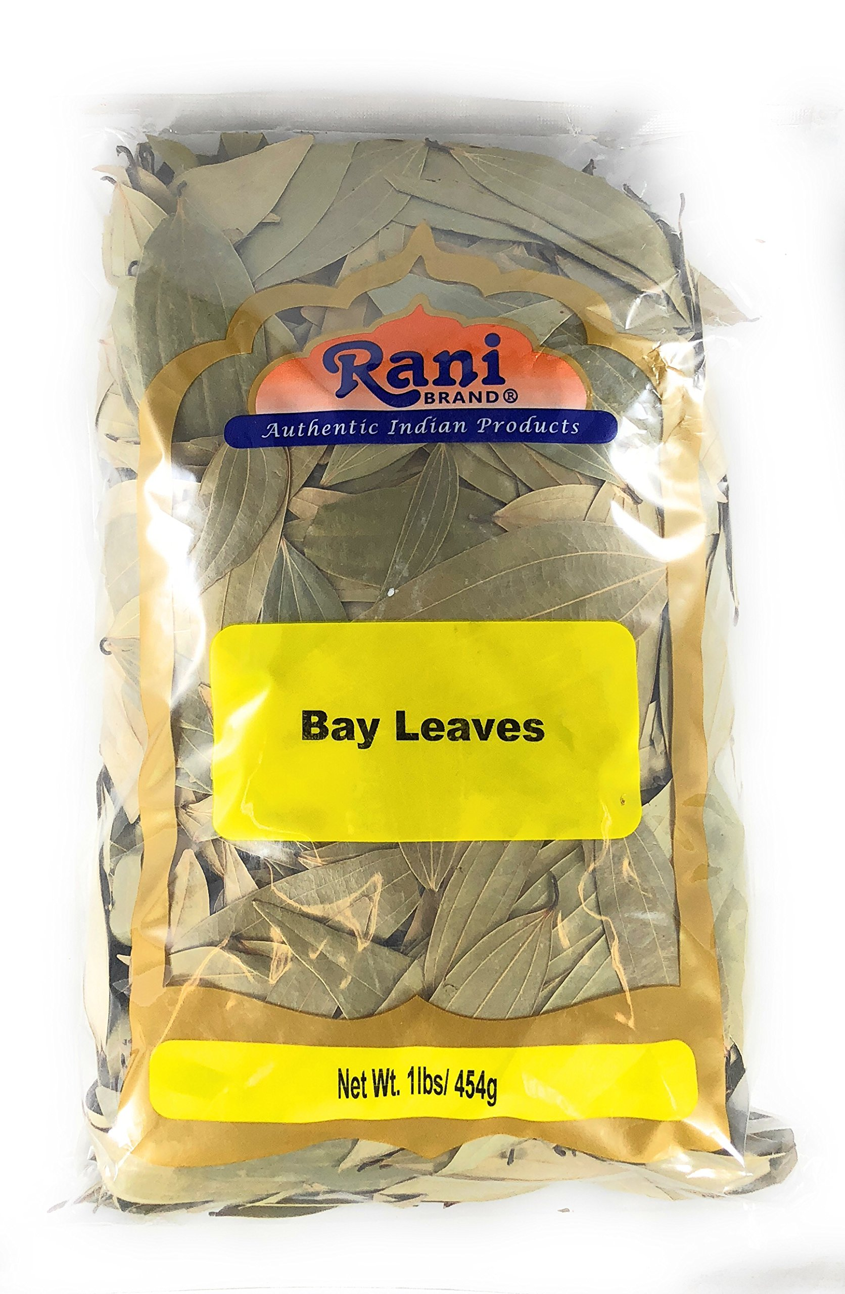 Rani Bay Whole Leaf (Leaves) Spice Hand Selected Extra Large 16oz (454g) 1lb Bulk Pack All Natural ~ Gluten Free Ingredients | NON-GMO | Vegan | Indian Origin