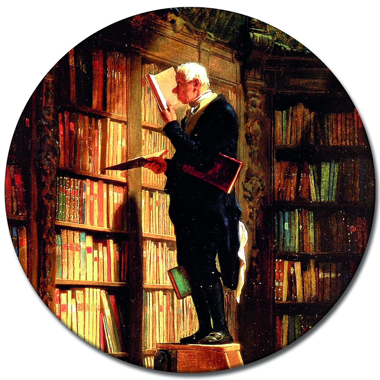 Wandbild Carl Spitzweg - Der Bücherwurm Panorama 60x180cm 60x180cm 60x180cm mehrteilig - Leinwandbild Alte Meister Gemälde Bild auf Leinwand B07F2HXTH3 Leinwanddrucke be3df3