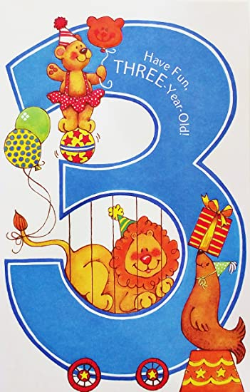 3rd Birthday Card Male ~ Boy Age 3 Happy Birthday ~ Nice Quality Card