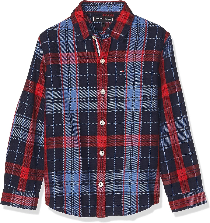 Tommy Hilfiger - Camisa Checked Shirt - Camisa Cuadros NIÑO: Amazon.es: Ropa y accesorios