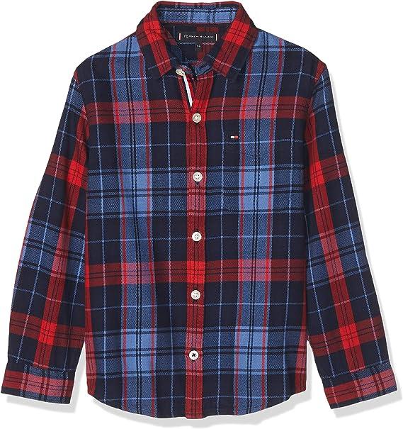 Tommy Hilfiger - Camisa Checked Shirt - Camisa Cuadros NIÑO (14 AÑOS): Amazon.es: Ropa y accesorios