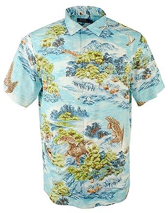 3d3b150a Polo Ralph Lauren Men's Landscape Hawaiian Print Short Sleeve Camp Shirt at  Amazon Men's Clothing store: