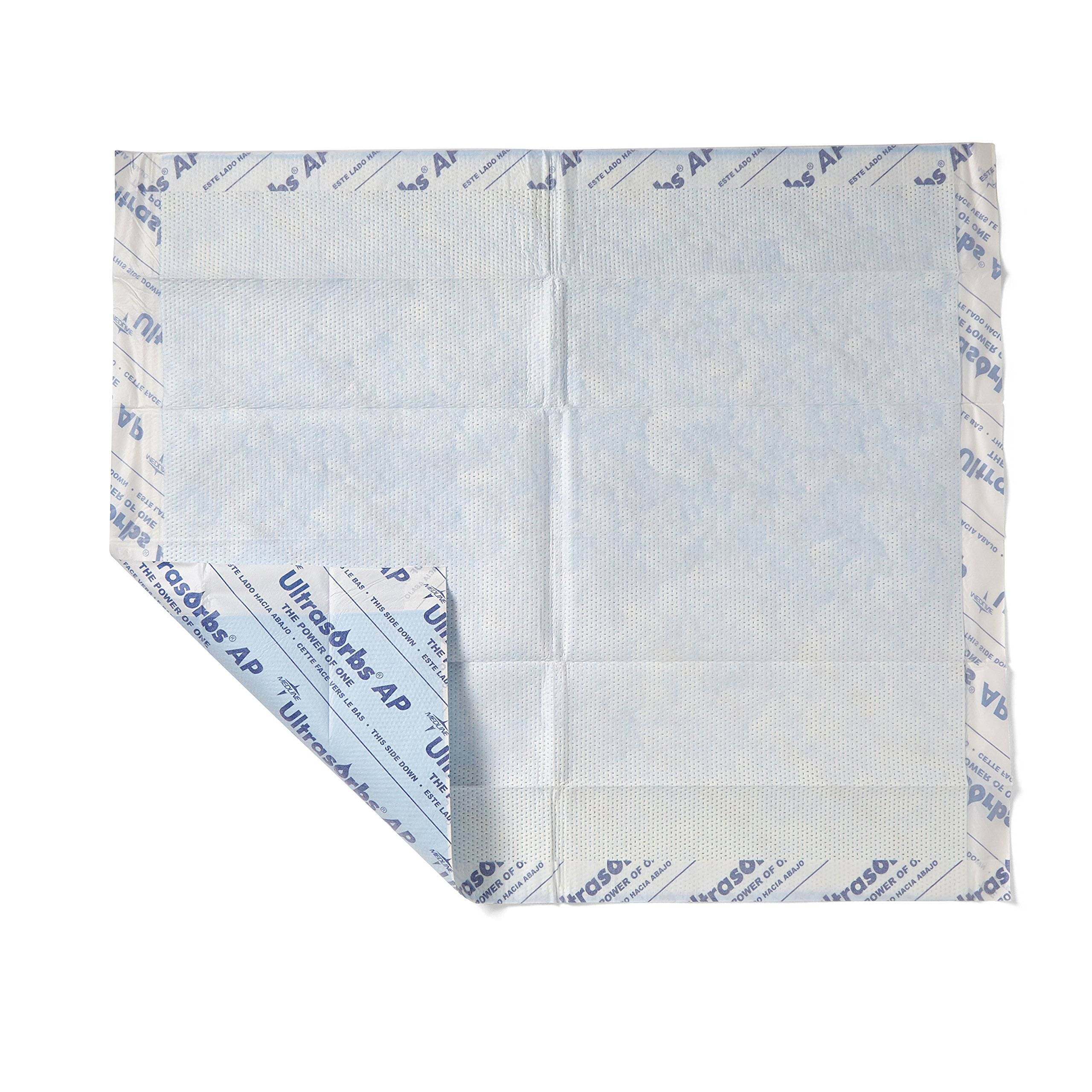 Medline Ultrasorbs AP Drypads, Super Absorbent Disposable Underpad, 30 x 36 inches, 10