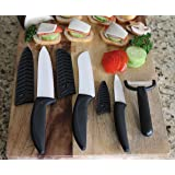 Miracle Blade World Class Series Ceramic knife 7pcs set White