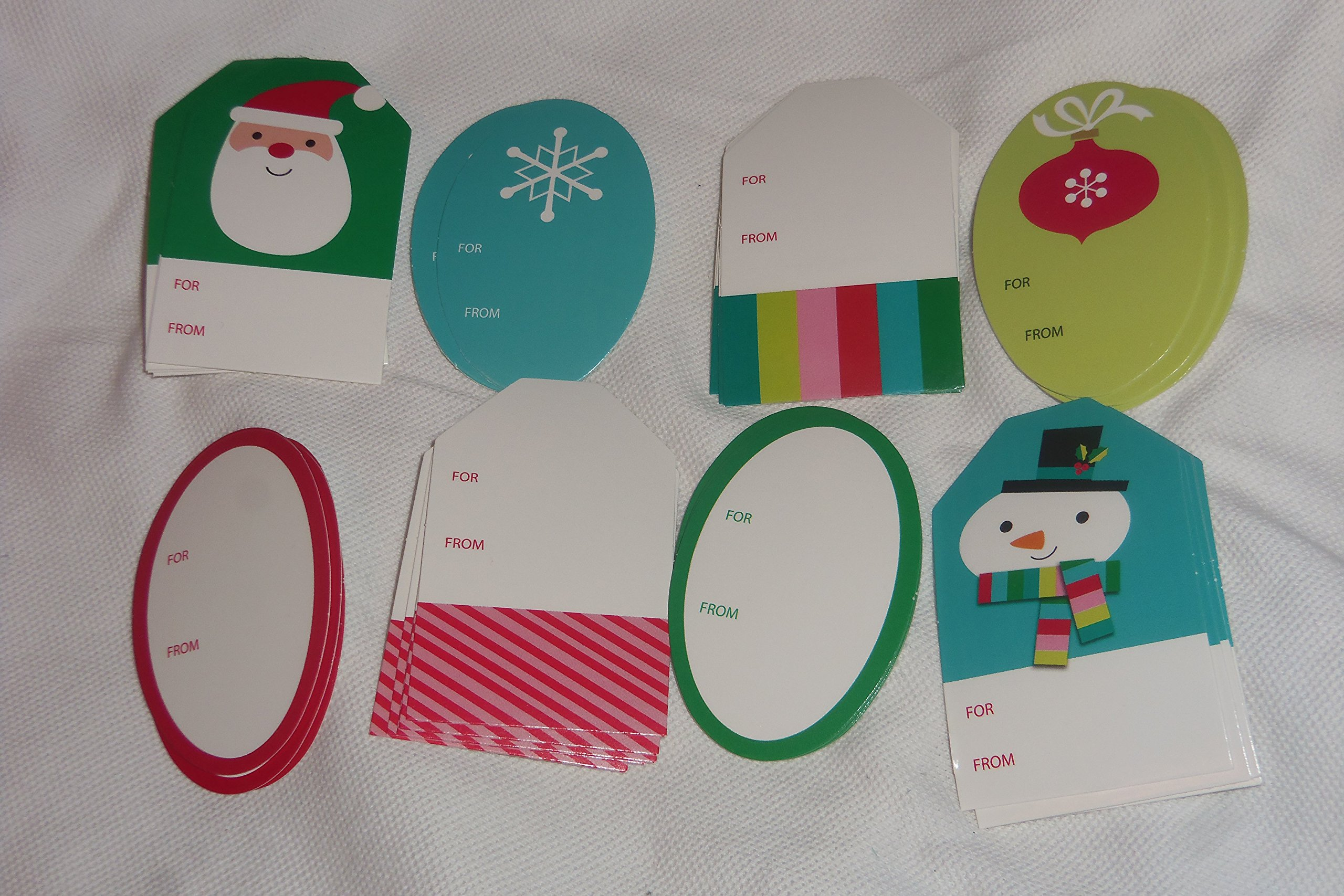 40 Inspirations from Hallmark peel 'n' stick Assorted Christmas Gift Tags Santa