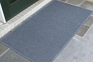 WaterHog Fashion Commercial-Grade Entrance Mat, Indoor/Outdoor Charcoal Floor Mat 5' Length x 3' Width, Bluestone by M+A Matting