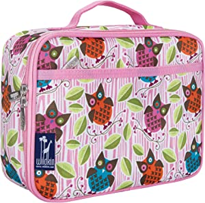 Wildkin Kids Insulated Lunch Box for Boys and Girls, Perfect Size for Packing Hot or Cold Snacks for School and Travel, Measures 9.75 x 7.5 x 3.25 Inches, Mom's Choice Award Winner (Owls)