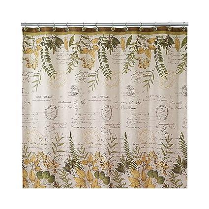 Avanti Linens 13670HIVR Foliage Garden Shower Curtain Medium Ivory