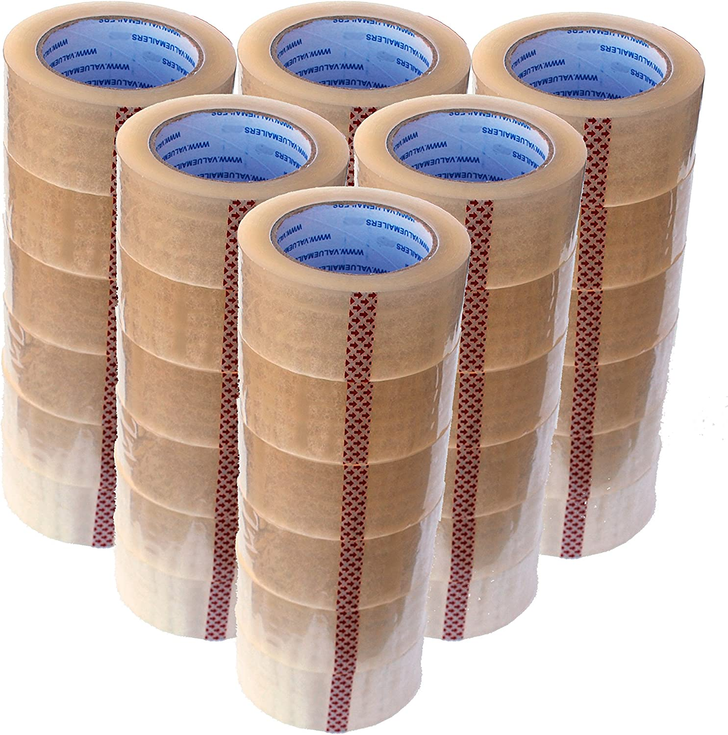 """24-36-72 Rolls Clear Packing Tape Packaging Carton Sealing Tape 2/""""×110Yards US"""
