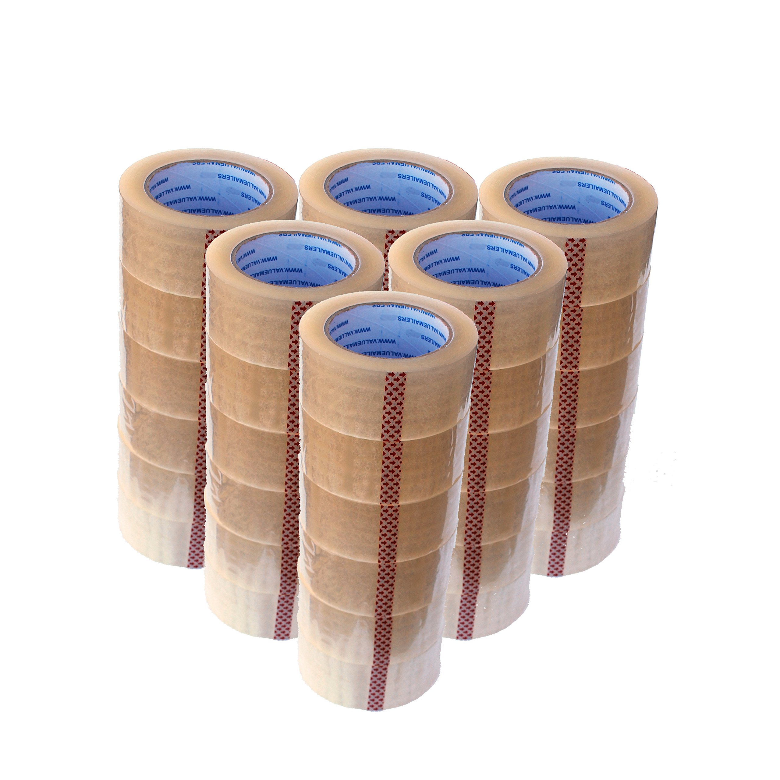 ValueMailers Carton Sealing Tape 2'' X 110 Yards Per Roll - 36 rolls 2 Mil Thick by ValueMailers