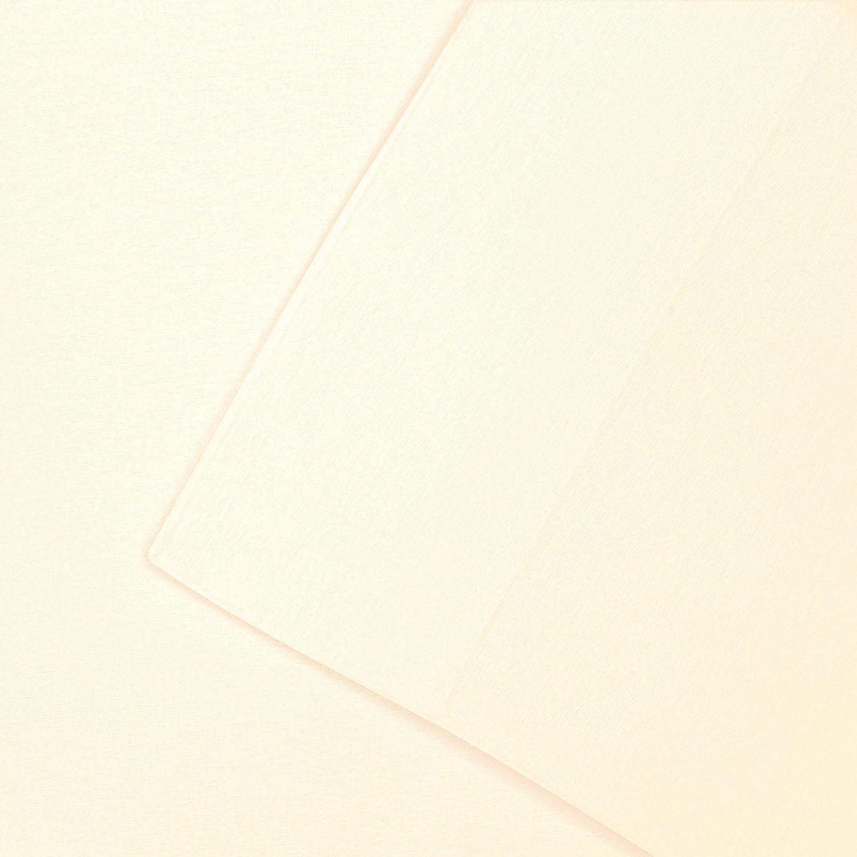 Impressions Superior - Juego de Sábanas de Franela 198 x 203 cm, de Algodón, Color Marfil Liso: Amazon.es: Hogar
