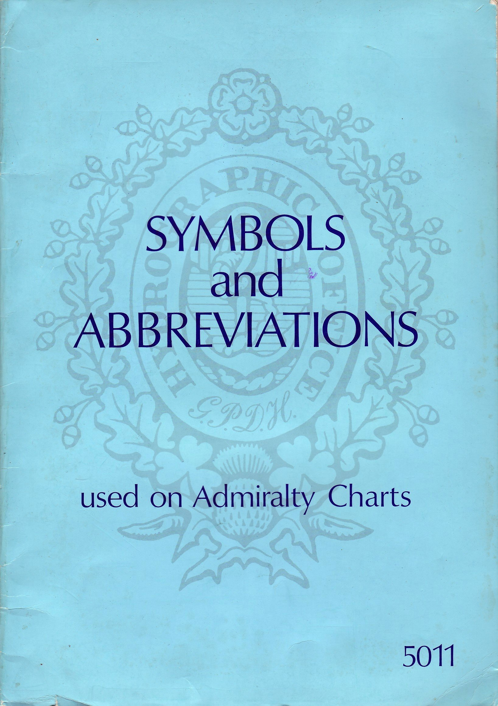 Symbols And Abbreviations Used On Admiralty Charts 5011 Amazon