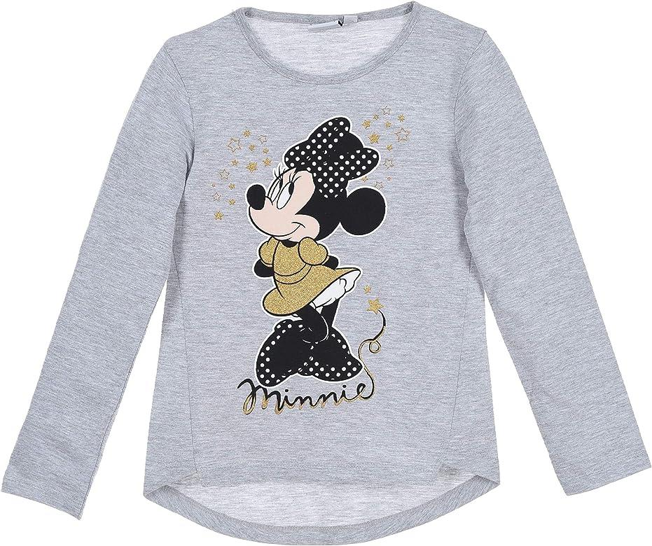 Minnie Mouse Bambina Maglietta a Maniche Lunga