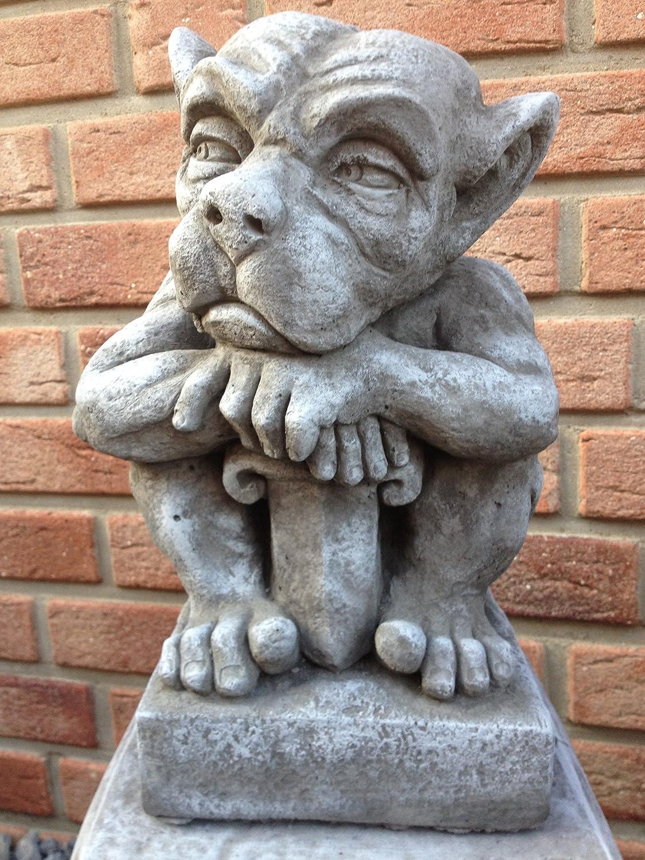 Steinfiguren Garten gartenfigur gargoyle figur steinfigur für garten deko teich